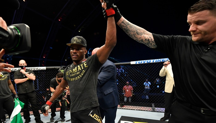 Buhari salutes Kamaru Usman for retaining UFC title